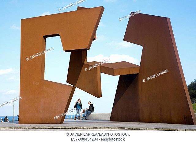 'Construccion vacia', sculpture by Jorge Oteiza, San Sebastian. Guipuzcoa, Euskadi, Spain