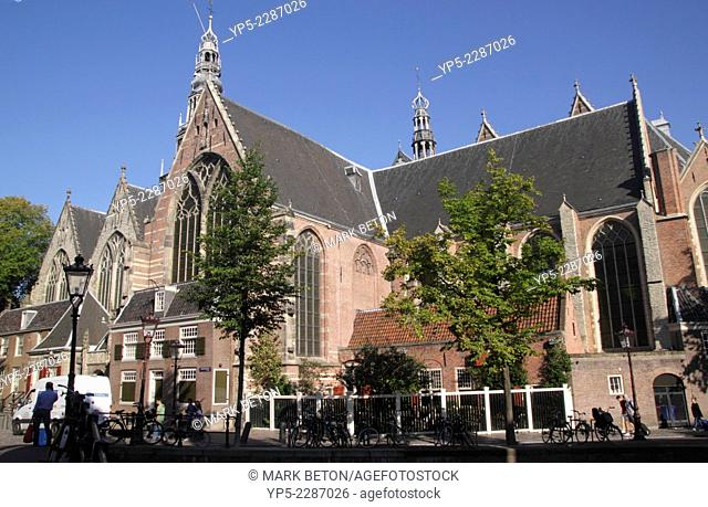 Oude Kerk church in Old Side district Amsterdam Holland