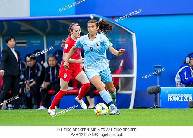 France, Reims, Stade Auguste-Delaune, 11.06.2019, Football - FIFA Women's World Cup - USA - Thailand Image: from left Rose Lavelle (USA
