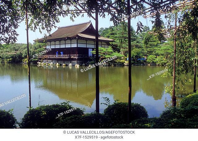 Garden of Heian Jingu sanctuary ,Kyoto, Japan