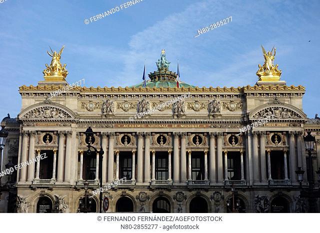 Academie Nationale de Musique. Palais Garnier. Paris Opera House. Paris. France. Europe