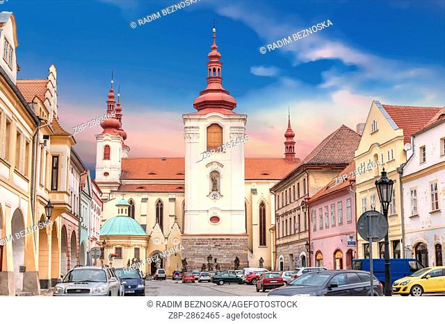 Church of the Assumption of Virgin Mary, Zatec, Northern Bohemia, Czech Republic, Europe