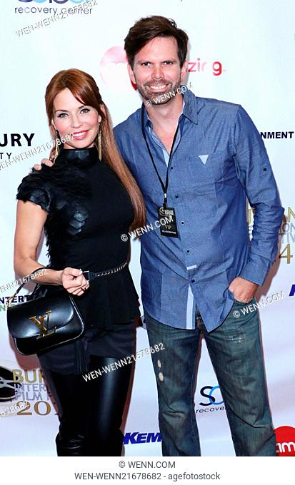 The Burbank International Film Festival - Opening Night - Arrivals Featuring: Jenae Altschwager,Devin Reeve Where: Burbank, California