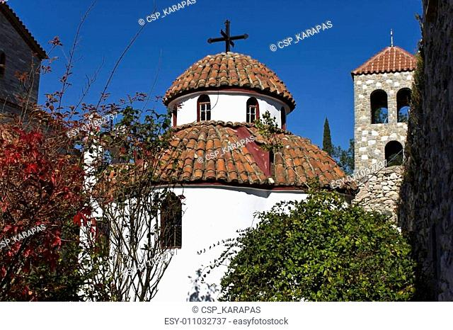 Scenic orthodox monastery at Xanthi city in Greece