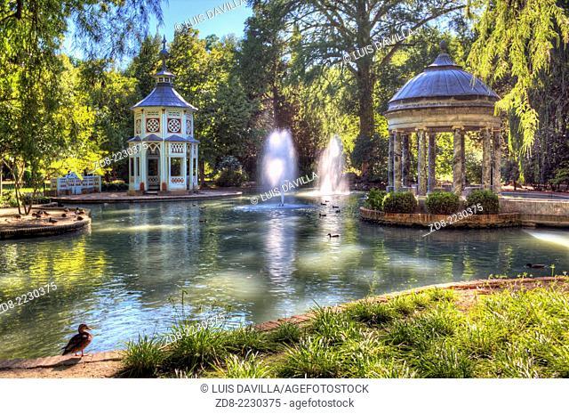 chinese pond in principe garden. aranjuez