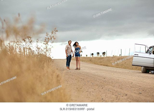 Couple waiting