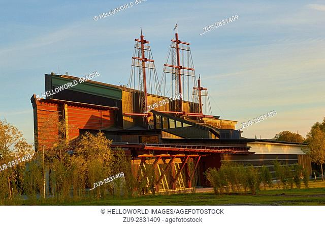 Vasa Museum (Vasamuseet) maritime museum, Djurgarden, Stockholm, Sweden, Scandinavia. . Museum displays the only fully intact 17th century ship that has ever...