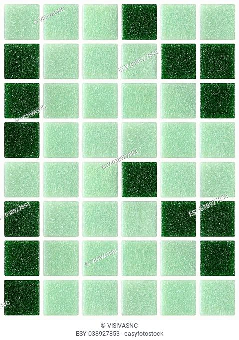 small marble tiles green square shiny