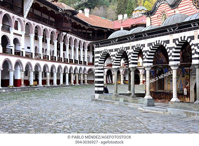 Church of the Virgin in Rila Monastery, Rila mountains, Bulgaria