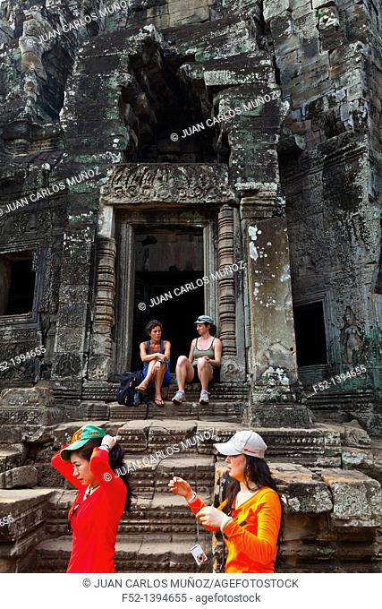 Bayon Temple  Angkor  Siem Reap town, Siem Reap province  Cambodia, Asia