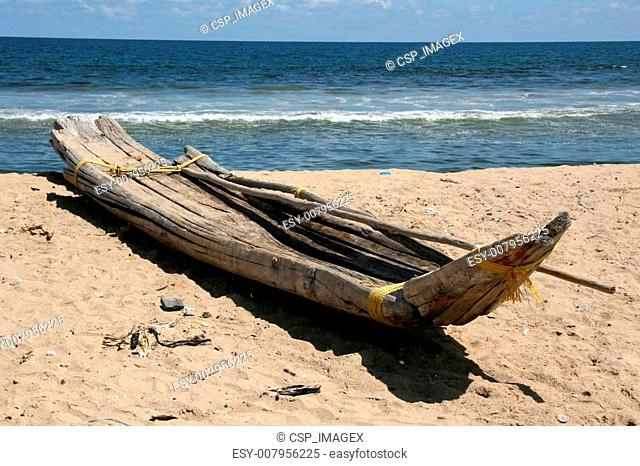 Wooden Boat - Marina Beach, Chennai, India