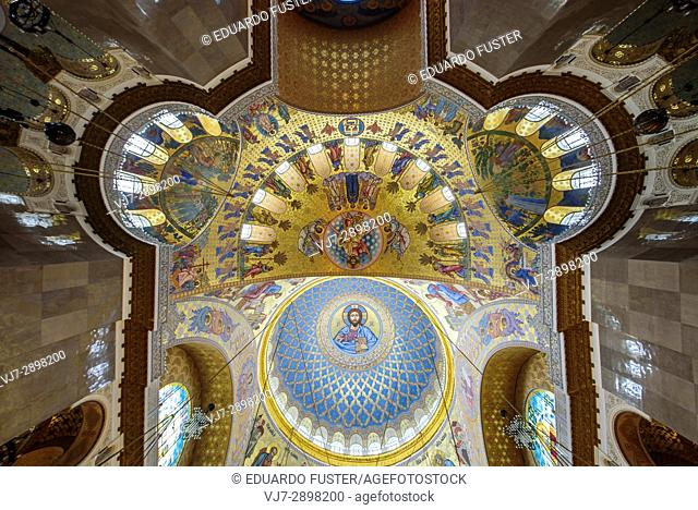 Interior of the Naval cathedral of Saint Nicholas in Kronstadt, Saint Petersburg (Russia)
