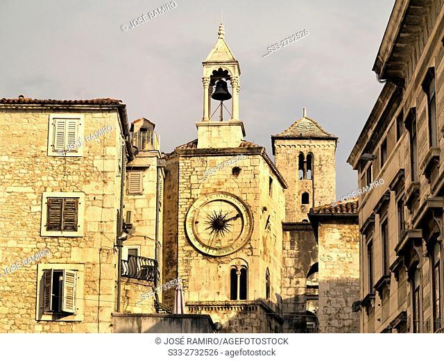 Clock Toweer in Split. Croatia. Europe