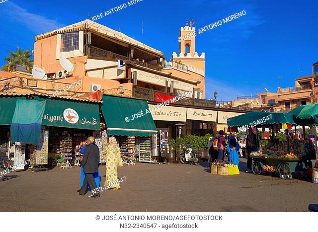 Marrakech, Djemaa El Fna Square, Marrakesh, UNESCO Worlrd Heritage Site,,Jemaa El-Fna square, Morocco, Maghreb, North Africa