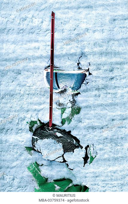 Snowboarder, avalanche, snow, avalanche probe