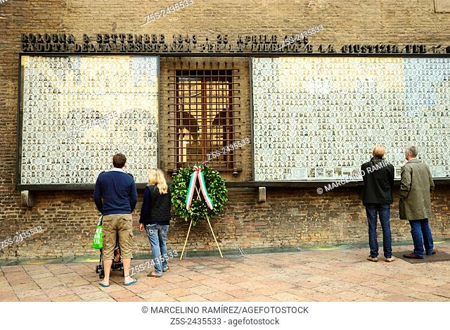 Memorial. Monument to the Fallen, World War II. Bologna. Italy