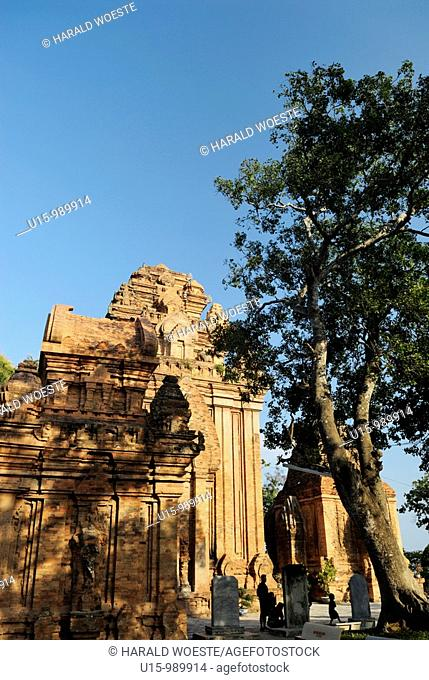 Asia, Vietnam, Nha Trang  Po Nagar Cham Towers  The Cham Towers dating back to the 7-12 century are located just north of the city centre at the mouth of the...