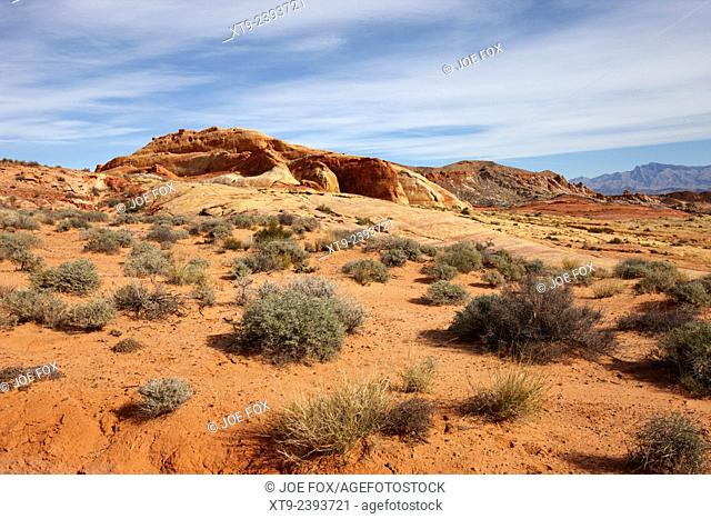 view over valley of fire state park nevada usa