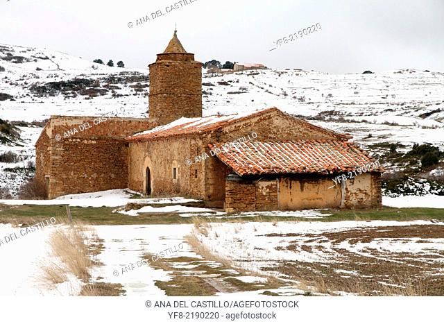 Santa Isabel chapel Gudar mountains Aragon country Spain