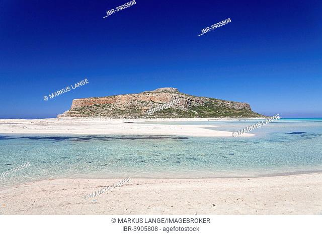Beach and Bay of Balos, Gramvousa Peninsula, Crete, Greece
