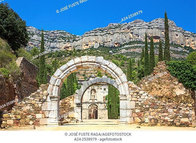 Spain, Catalonia, Scaladei City, Santa Maria Scaladei Monastery, 12th. century