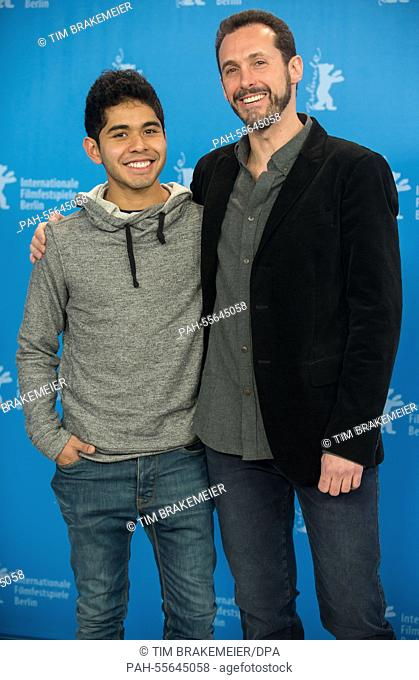 Mexican director Gabriel Ripstein and mexican actor Kristyan Ferrer pose during the photocall for '600 Miles' at the 65th annual Berlin Film Festival, in Berlin