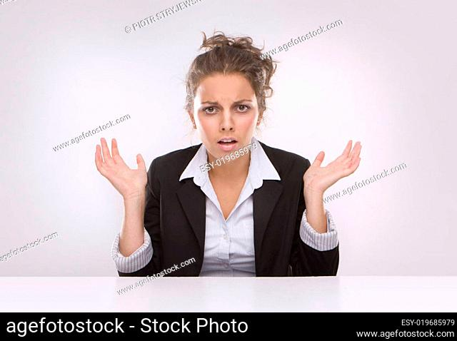 Savings - Business woman at work
