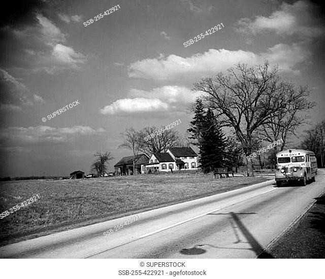 USA, New York State, Long Island, Melville, farm scene in March