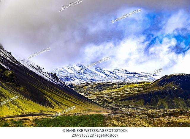 Snæfellsjökull glacier in the nature of Snaefellsnes peninsula, Iceland