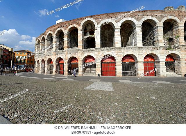 Arena, Piazza Bra, Verona province, Veneto, Italy