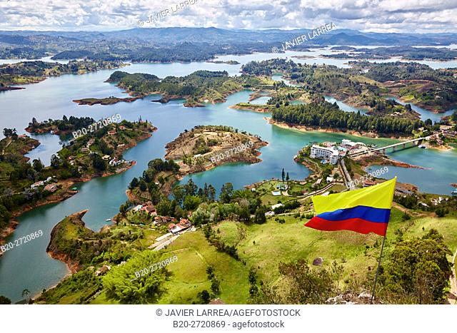Guatape Reservoir, Peñol stone, El Peñol, Antioquia, Colombia