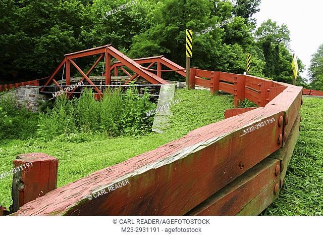 An old bridge over the Delaware canal, Pennsylvania, USA