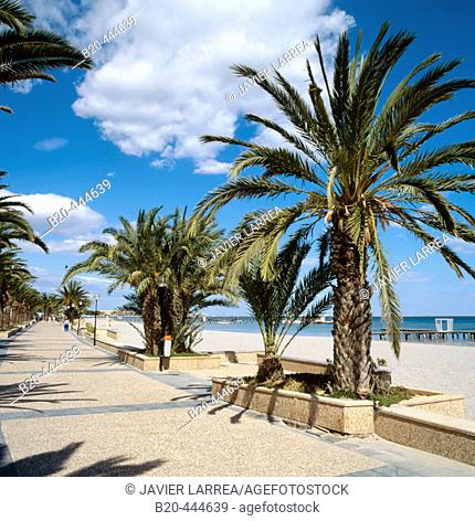 Beach, Santiago de la Ribera, Mar Menor, Murcia province, Spain