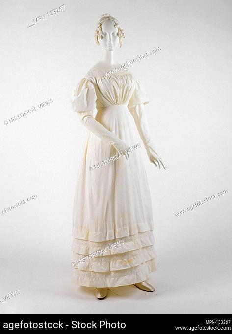 Dress. Date: 1830s; Culture: American or European; Medium: cotton; Credit Line: Gift of James R. Creel IV and Mr. and Mrs. Lawrence G