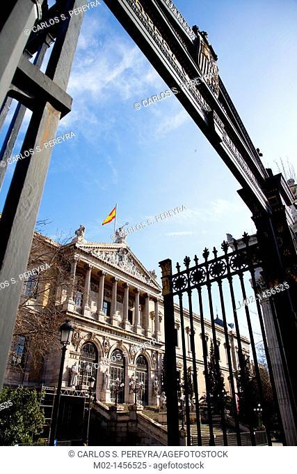 Biblioteca Nacional, Palacio de Biblioteca y Museos Nacionales, Paseo de Recoletos, Madrid, Spain