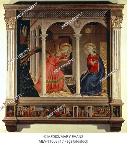 Annunciazione' – Mary and Angel with architectural frame