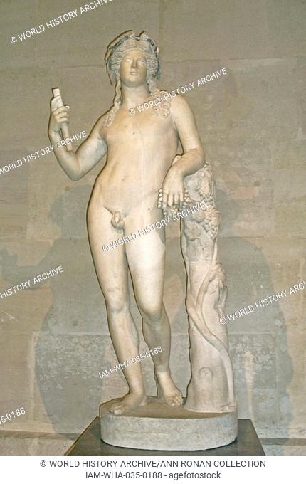 Marble Statue of Dionysus 2nd Century B.C. Arms and legs restored in the 18th Century