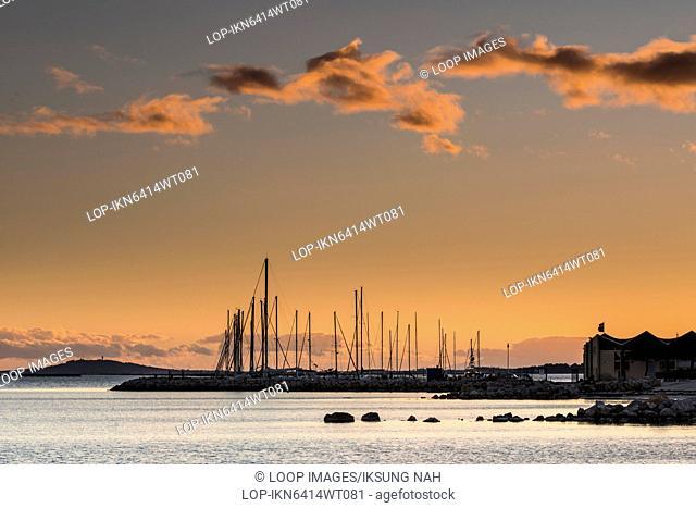 Sunset over Etang de Thau in Languedoc Roussillon