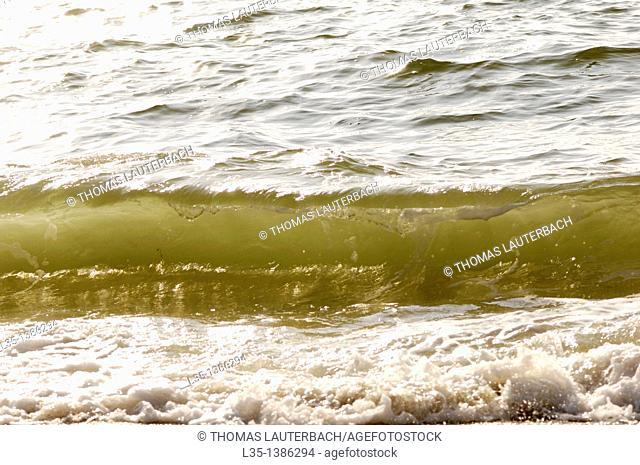 Waves near the beach, Sylt, Germany
