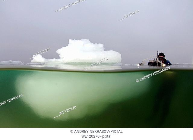 Iceberg in the Black Sea, which was last frozen in 1977, Odessa, Ukraine, Eastern Europe