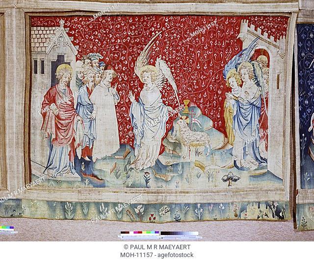 La Tenture de l'Apocalypse d'Angers, Un troisième ange et l'Agneau 1,56 x 2,38m, der dritte Engel und das Lamm