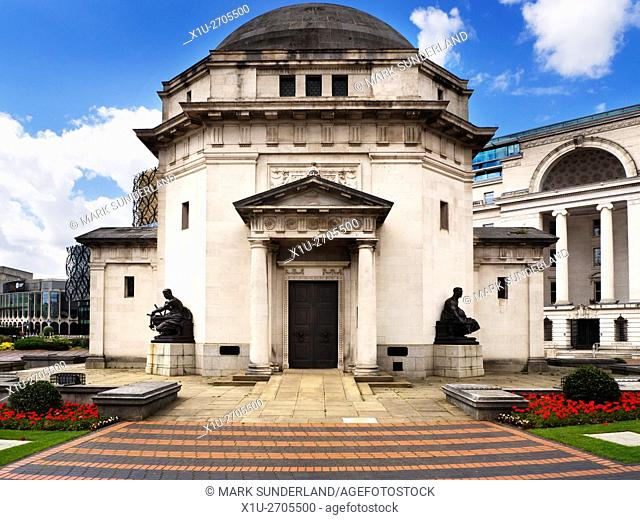 Hall of Memory War Memorial in Centenary Square Birmingham West Midlands England
