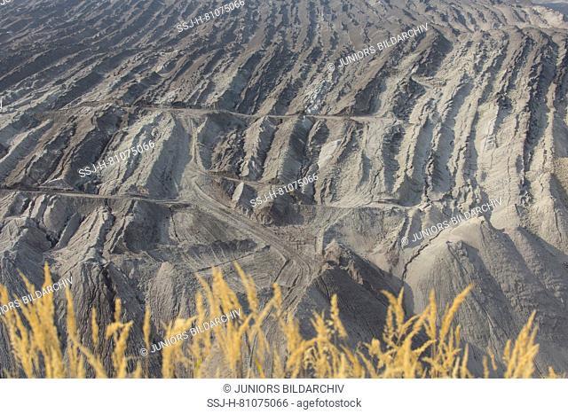 Nochten opencast mine, mining for lignite. Saxony, Germany