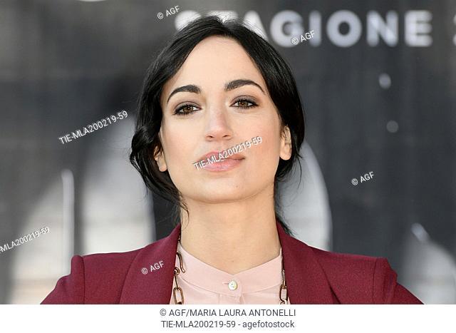 Cristina Pelliccia during photocall of the second season of Italian fiction 'Suburra', Rome 20-02-2019
