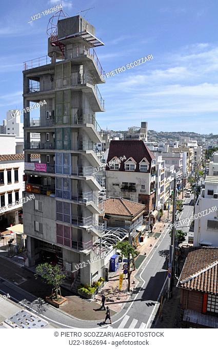 Naha Okinawa, Japan, weird modern architecture in Asato