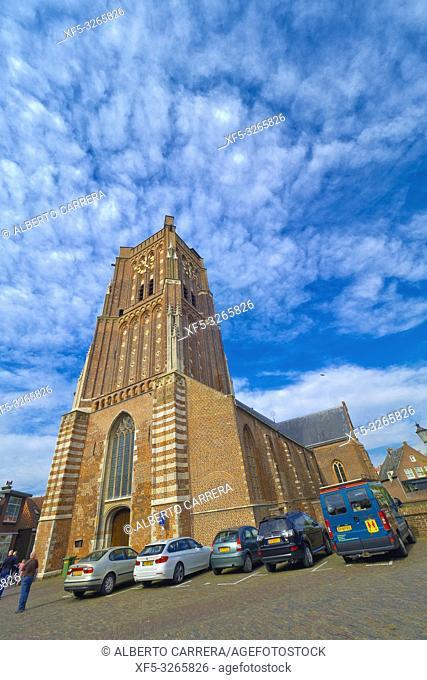 St. Martin's Church, Woudrichem, Noord-Brabant Province, Holland, Netherlands, Europe