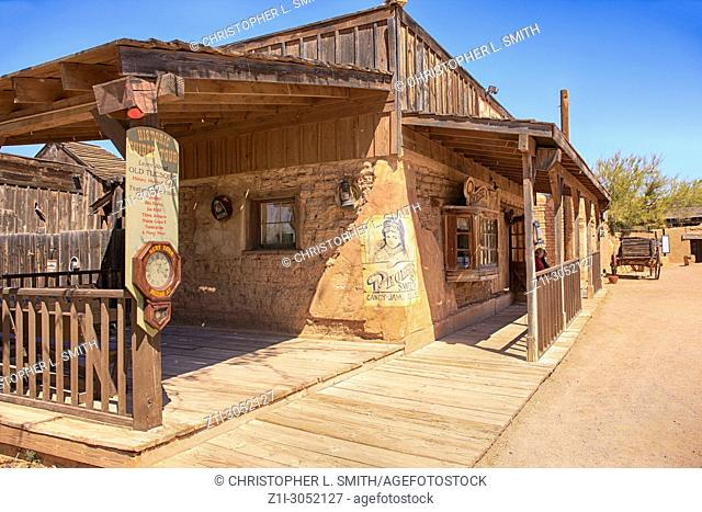 Cowboy Film set building at the Old Tucson Film Studios amusement park in Arizona