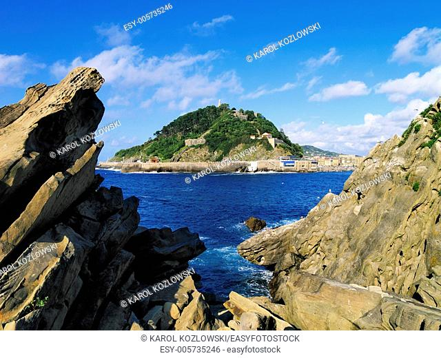 View from Santa Clara Island in Donostia - San Sebastian, Basque Country, Spain