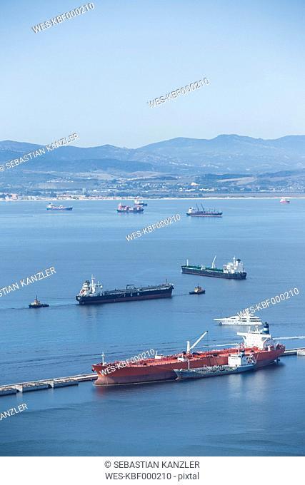 Gibraltar, Bay of Gibraltar, Cargo ships