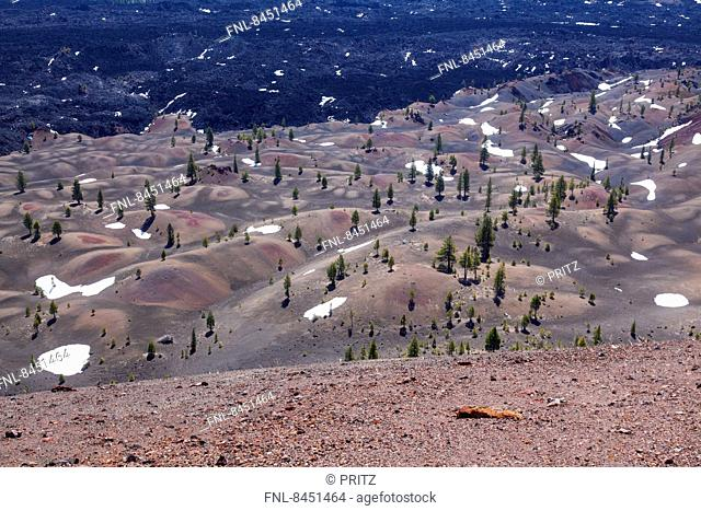 View from Cinder Cone, Lassen Volcanic Nationalpark, California, USA